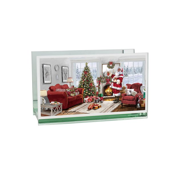 CHRISTMAS SANTA DBL TLIGHT HLD