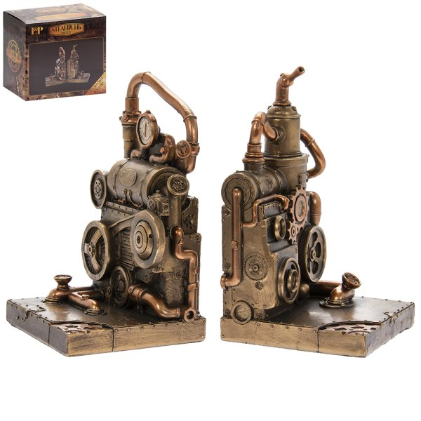 STEAM PUNK BOOKENDS