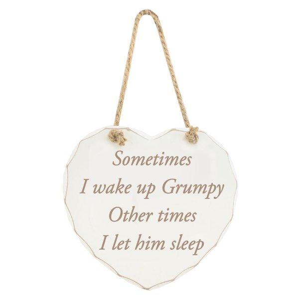 WAKE UP GRUMPY PLAQUE