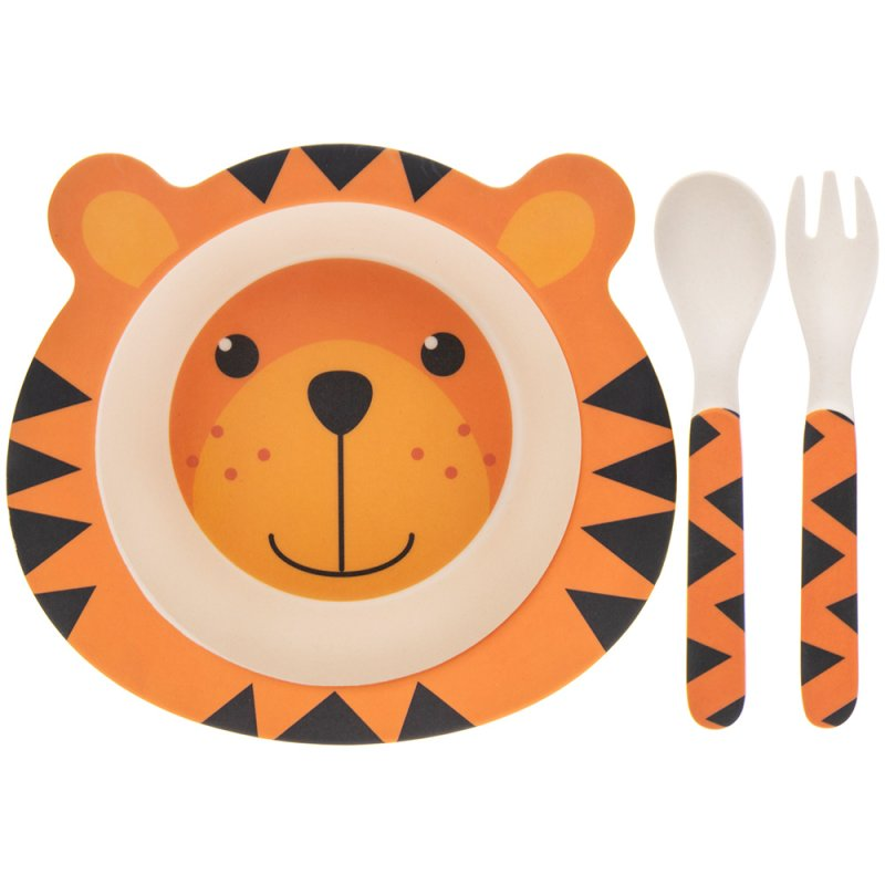 BAMBOO ECO EATING SET TIGER