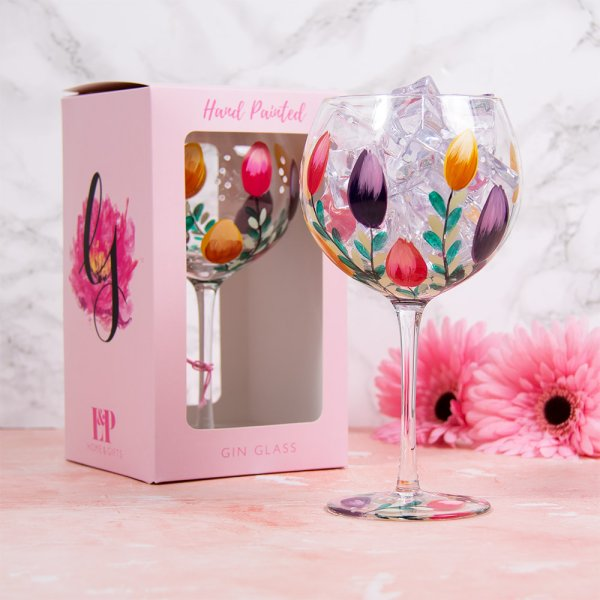 TULIPS GLASS
