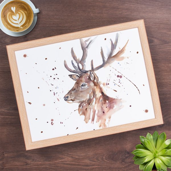 COUNTRY LIFE STAG LAPTRAY