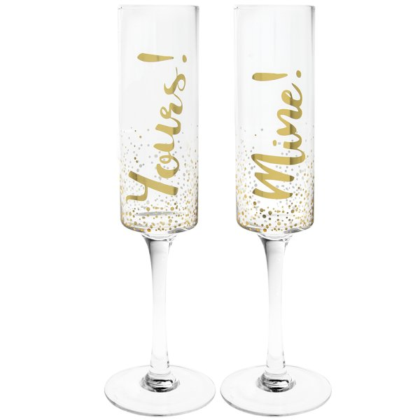 MINE & YOURS FLUTES SET OF 2