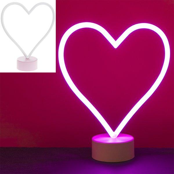 HEART PINK NEON LAMP