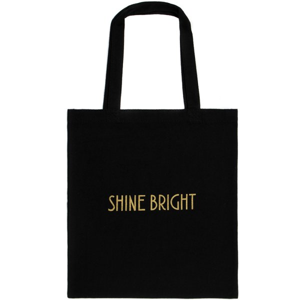 SHINE BRIGHT BLK CANVASSHOPPER
