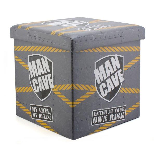 MAN CAVE FOLDING STORAGE BOX