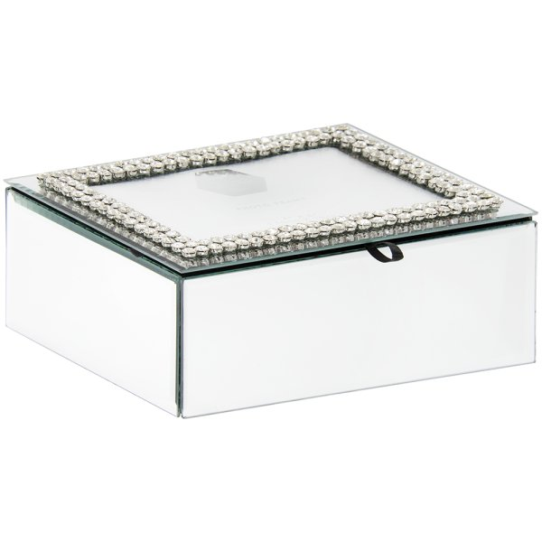 DIAMANTE MIRROR JEWEL BOX LGE
