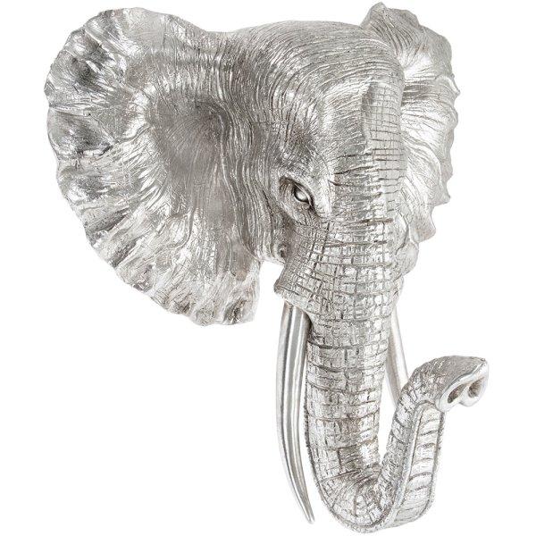 SILVER ART ELEPHANT BUST LGE