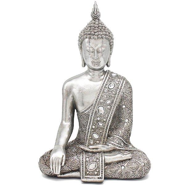 """SILVER ART THAI BUDDHA 12"""""""