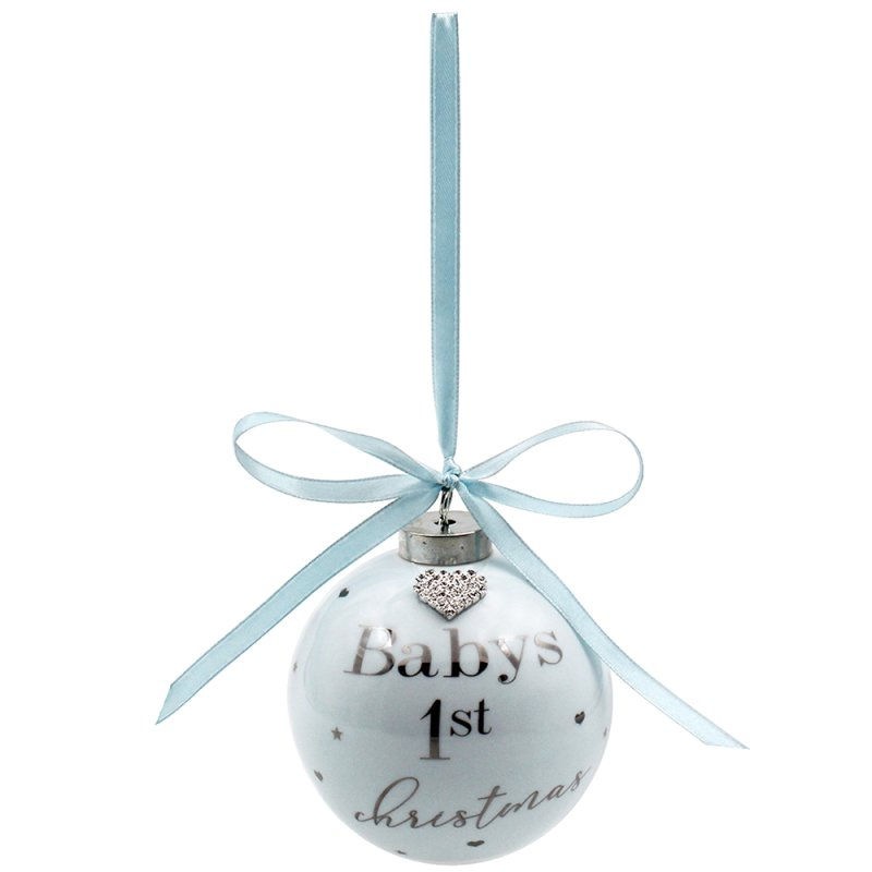BABY FIRST XMAS BAUBLE BLUE
