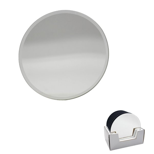MIRROR CANDLEPLATE 15CM
