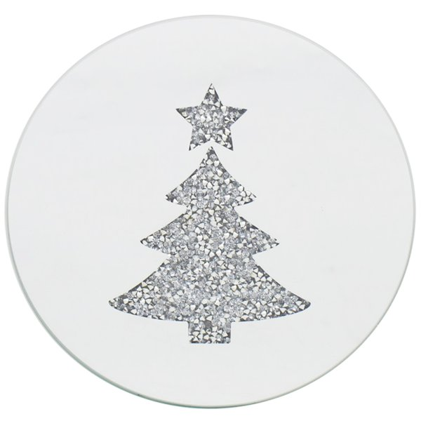 XMAS TREE CANDLE PLATE 15CM