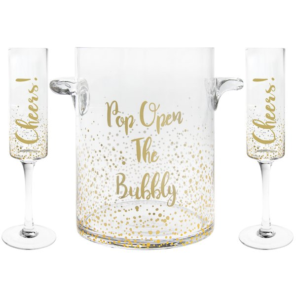 CHEERS FLUTE&BUBBLY ICE BUCKET