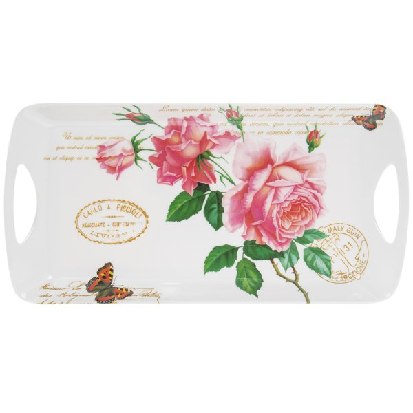REDOUTE ROSE TRAY MEDIUM