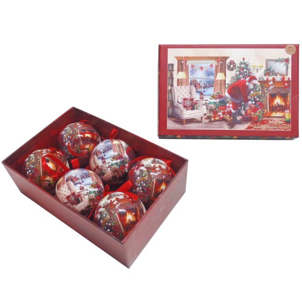 SANTA BAUBLES SET OF 6