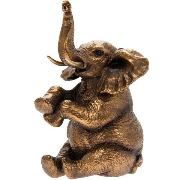 REFLECTION BRNZ SIT ELEPHANT
