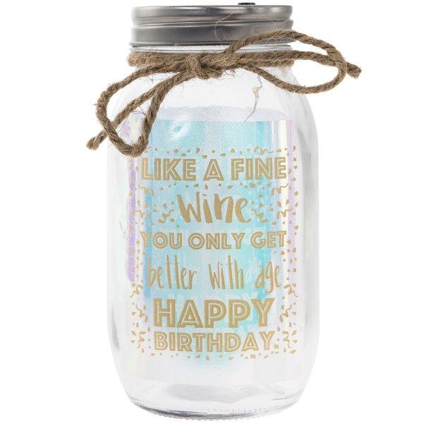 LED JAR HAPPY BIRTHDAY