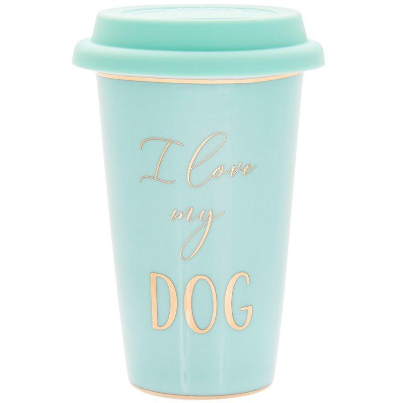 LETS PARTY DOG TRAVEL MUG