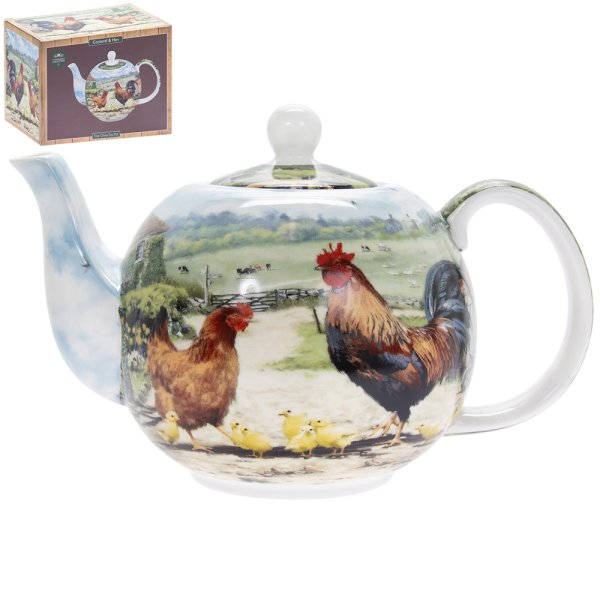 COCKEREL & HEN TEAPOT