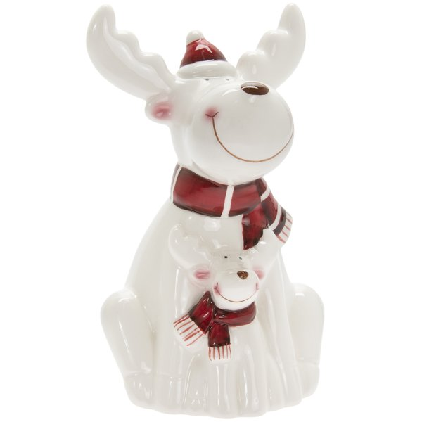 REINDEER WHITE & RED LGE
