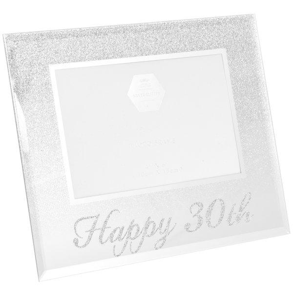 SIL GLITTER HAPPY30THFRAME 4X6