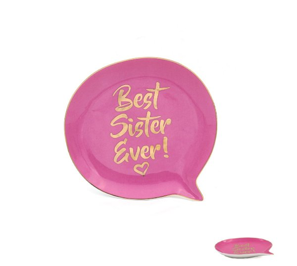 SISTER SPEECH BUBBLE SHAPEDISH
