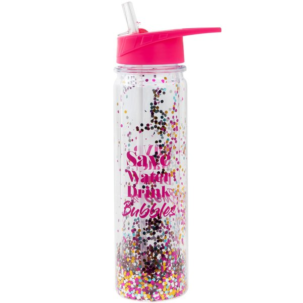 GLITTER SAVE WATER BOTTLE