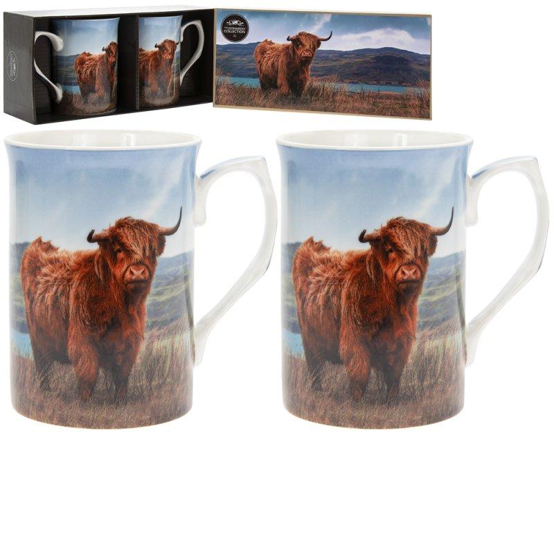 HIGHLAND COW MUGS SET OF 2