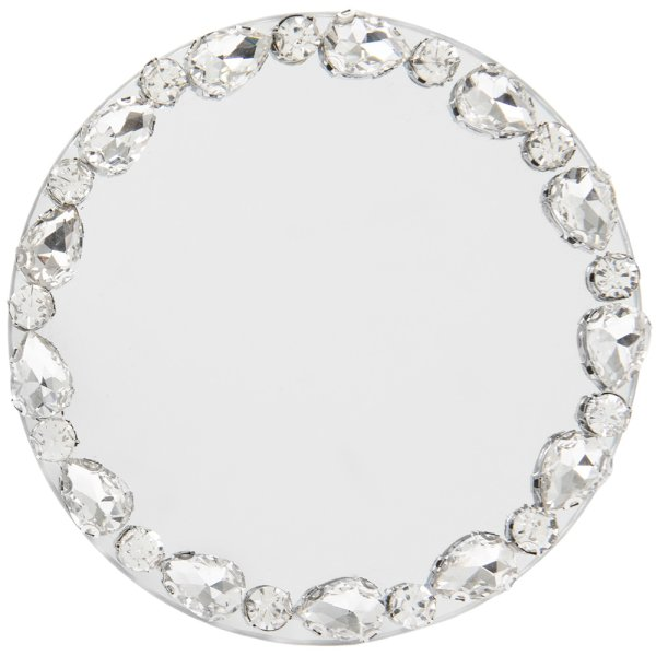 DIAMOND MIRROR CANDLE PLT 10CM
