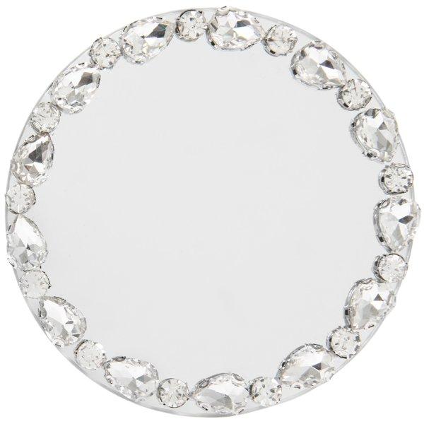 DIAMOND MIRROR CANDLE PLT 10CM
