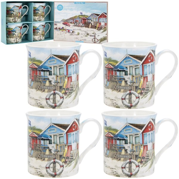 SANDY BAY MUGS SET OF 4
