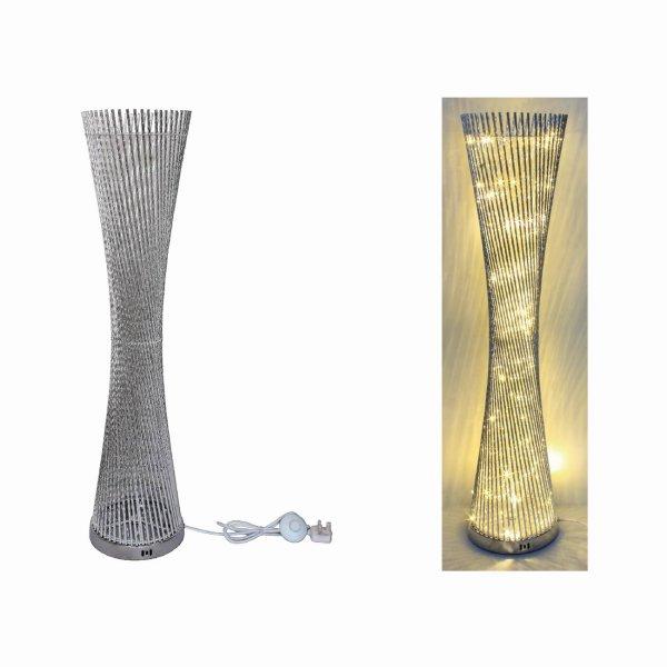 SILVER LED LAMP SPIRAL 100CM