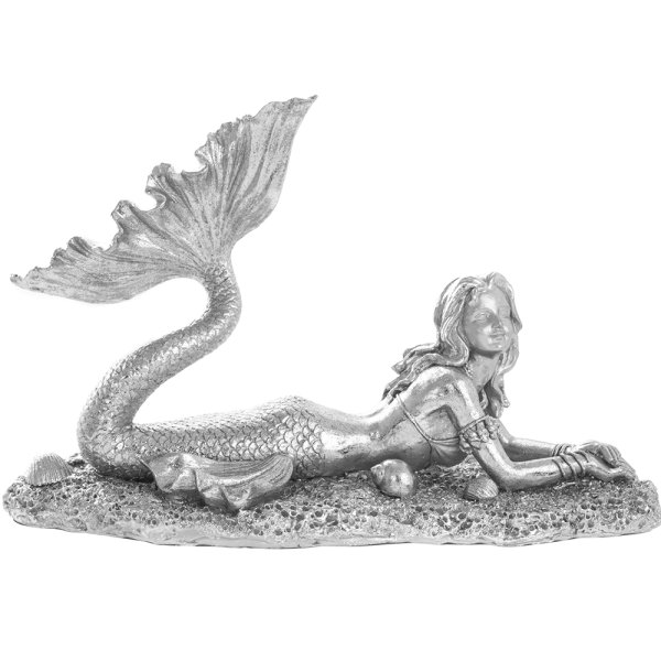 SILVER ART MERMAID LYING