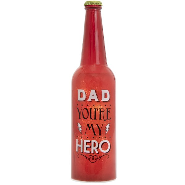 LED BOTTLE DAD MY HERO