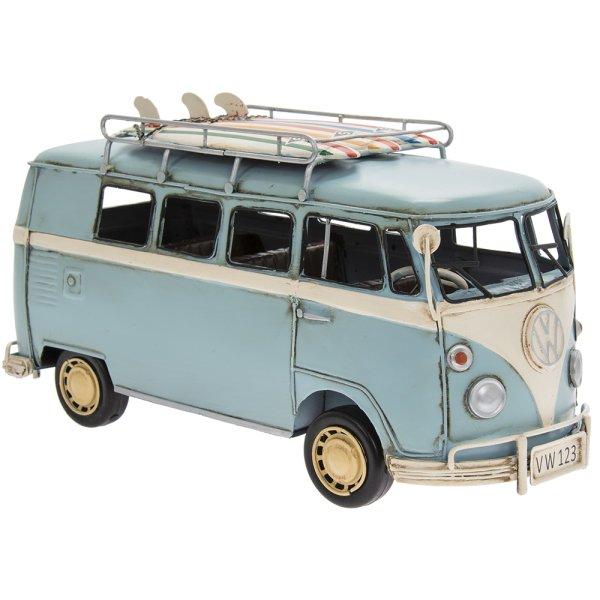 VINTAGE VW CAMPER VAN BLUE