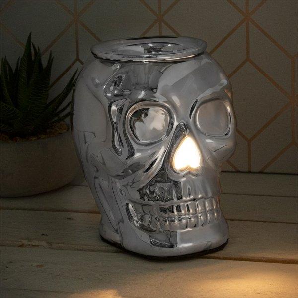 DESIRE SKULL AROMA LAMP SILVER