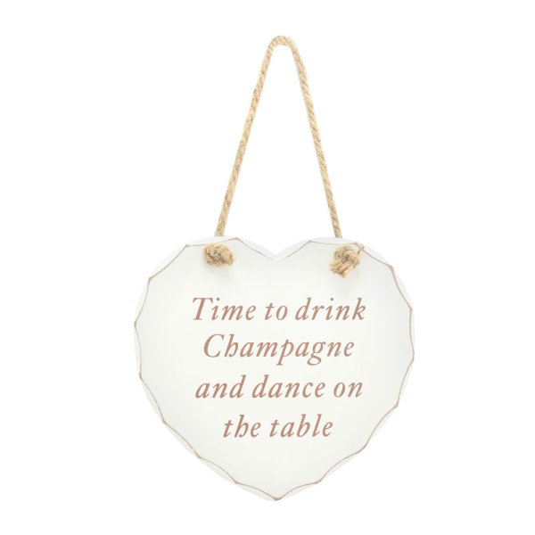 DRINK CHAMPAGNE HANGING PLAQUE