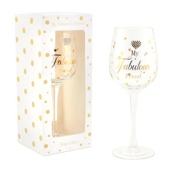 MAD DOTS FABULOUS WINE GLASS