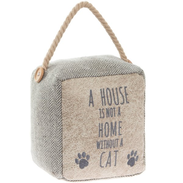 HOME WITHOUT A CAT DOORSTOP