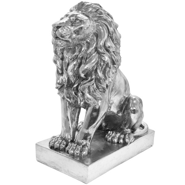 SILVER ART LION SITTING