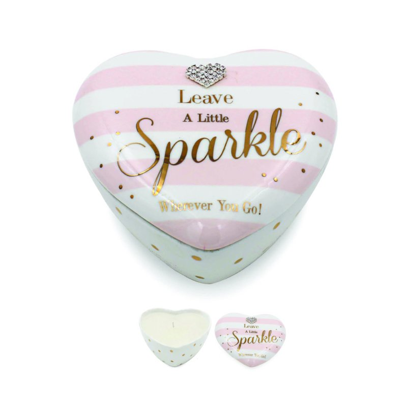 MAD DOTS SPARKLE HEART CANDLE