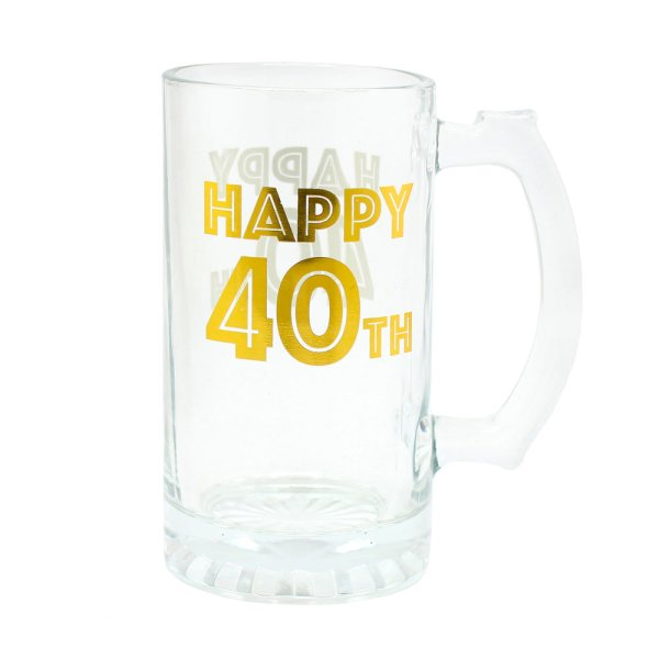 HAPPY 40TH TANKARD