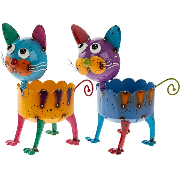 BRIGHT EYES CAT PLANTER 2 ASST