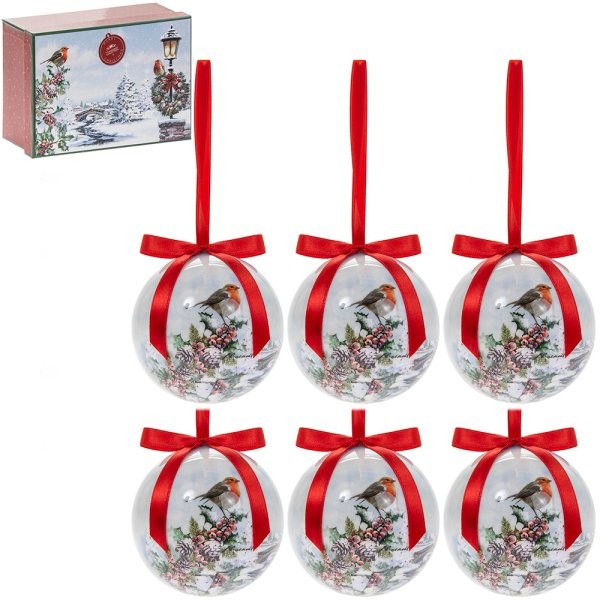 CHRISTMAS ROBINS BAUBLES