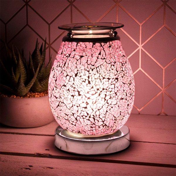 DESIRE AROMA LAMP PINK MOSAIC