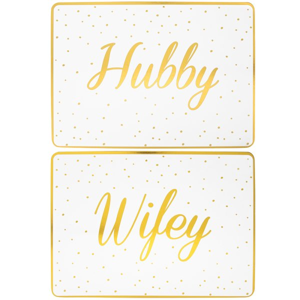 HUBBY&WIFEY PLACEMATS SET 2
