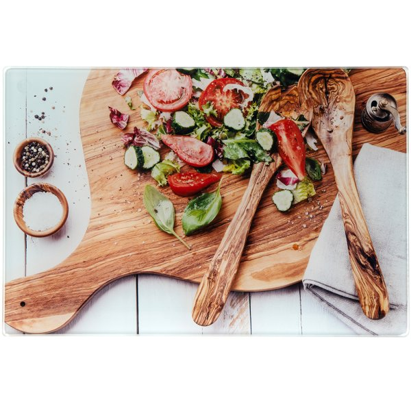 SALAD GLASS CUTTING BOARD SM