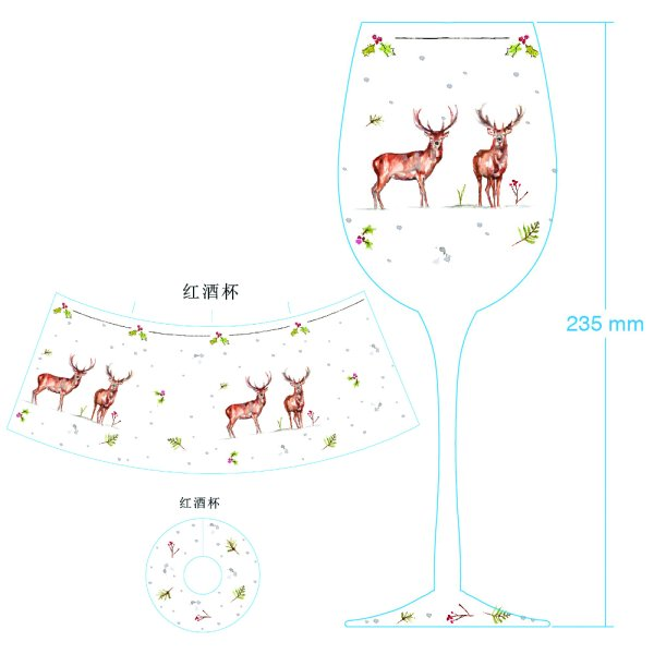 WINTER STAG WINE GLASS