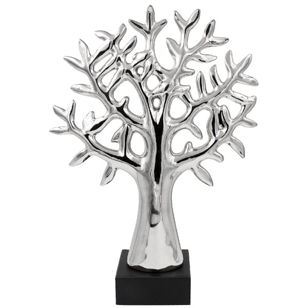 SILVER ART TREE OF LIFE 48CM