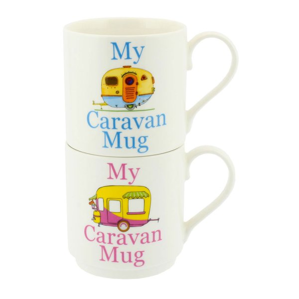 MY CARAVAN STACKING MUGS 2 SET